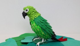 Parrot kertas